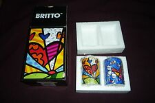 "Romero Britto Collectible 3"" Salt & Pepper Shakers NWT New In Package"