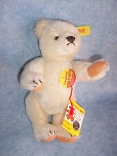 Steiff- Original TeddyBear White Mohair, Jointed (8.5in), Made in Germany
