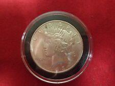 1923 Silver Peace Dollar AU /BU  Slider unc grade in black airtite