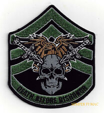 DEATH BEFORE DISHONOR HAT PATCH US ARMY MARINES NAVY AIR FORCE PIN UP SSGT QUILT