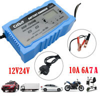 Smart Battery Charger 10A 12V 24V Automatic AGM Car Truck Boat Motorcycle GEL