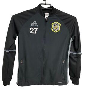 Adidas Climacool Indiana Elite FC Futbol/Soccer Black Zip Sweatshirt Youth Sz L