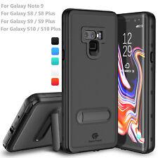 Para Galaxy Note 9 Estuche A Prueba De Agua Cubierta Delgado Con Soporte & Protector De Pantalla