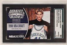 Dirk Nowitzki Dallas Mavericks 2014-15 Panini NBA Hoops #DN1 Draft SGC 92 NM/MT