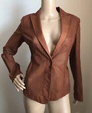 New $2990 Akris Women's Jacket Sport Coat Brown Size 6 US