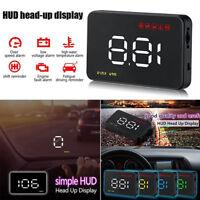 Car Head Up Display OBD II HUD Projector Speedometer MPH KM/h Speed Warn  HO