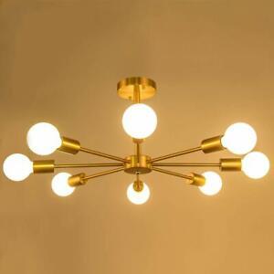 Industrial Sputnik Chandelier Pendant Lamp Ceiling Lighting Fixture 6/8 Heads US