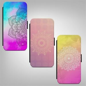 Mandala Colorful Print Pattern FLIP PHONE CASE COVER for IPHONE SAMSUNG HUAWEI