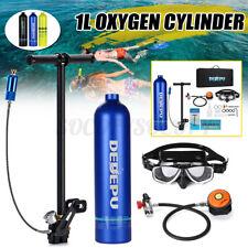 1L Diving Oxygen Air Reserve Tank Scuba Cylinder Hand Pump Underwater Equipment