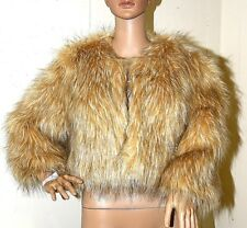 New INC International Concepts faux Fur Bolero Chubby Jacket Medium