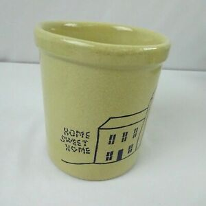 R.R.P. Rosville 1 qrt High Jar Home Sweet Home Stoneware Crock