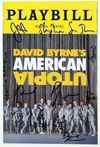 Cast David Byrne Signed AMERICAN UTOPIA Opening Night Playbill