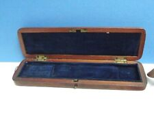 Thermometer Case [ Cuban Mahogany ] Georgian { Plush Lined } A1 Condition