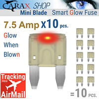 Fuses MINI blade small size ATO ATC ATM LED indicator GLOW WHEN BLOWN fuse 7.5 A