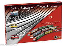 Tren Electrico de Juguete Vintage Metalico con luz 1 Locomotora 2 Vagones 203