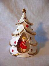 Vintage Dickson Lustreware Japan 3D Girl in a Christmas Tree Planter