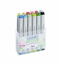 COPIC .TOO MARKER - 12 SPRING COLOURS SET - REFILLABLE WITH COPIC VARIOUS INKS