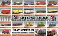 G SCALE 45mm GAUGE GARDEN RAILWAY RC LOCO CARRIAGE BOX FLATBED TRUCK COACH TRAIN