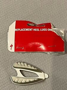 Specialized Black White Replacement Heel Lugs 42-43.5 SIL WHT  1pc right foot