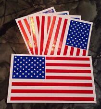 "Lot of (5) - 4"" x 7"" American Flag Patriotic Usa U.S. Vinyl Bumper Sticker Decal"