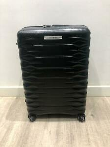 Large Hard Samsonite Suitcase in Black with mounted Lock & Expandable Capacity