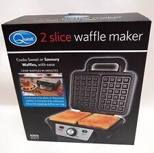 Belgian Waffle Maker Iron Machine 2 Slice Automatic Temp Control 1000W