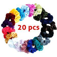 Hair Scrunchies 20 Pack Velvet Elastics Hair Ponytail Scrunchy Hair Accessories
