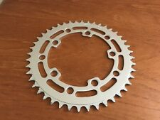 GT Wing Logo Stamped 44T USA Chain Ring Sprocket Wheel Silver Old Vintage BMX MX