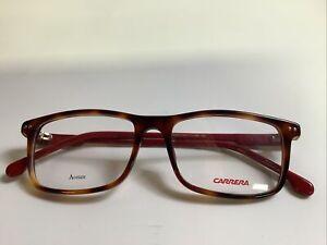 Carrera Eyeglasses Frames for Men/Women CA144/V Rectangular Brown/Red Ship Free!