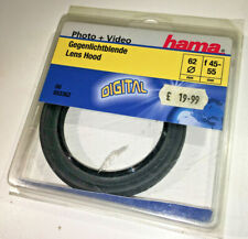 Hama 49mm standard collapsible rubber lens hood - NEW