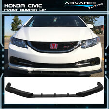 For 13-15 Honda Civic Sedan 4Dr IKON V3 Style PU Front Lip