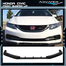 For 13-15 Honda Civic Sedan 4Dr IKON V3 Style PU Front Lip