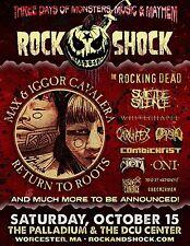 "MAX & IGOR CAVALERA ""ROCK SHOCK"" 2016 WORCESTER, MA CONCERT TOUR POSTER - Metal"