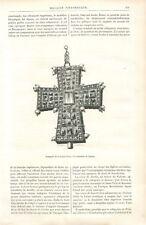Reliquaire de la Sainte-Croix Cathédrale de Tournai/Croix Byzantine GRAVURE 1885
