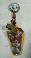 Vintage 1940's 50's Roy Rogers Small Pin Back Button Holster Composition Gun