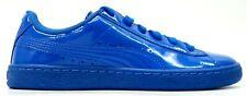 Puma Boys' Big Kids' Puma Basket Classic Patent Blue Skate Shoes US 7C EU 39