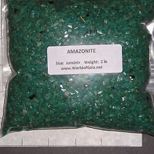 AMAZONITE, 3-5mm tumbled 2 lb bulk xxmini+ stones turquoise Russia SAVE 20%