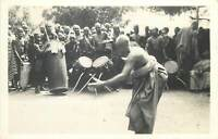 Genuine photograph postcard Africa Gold Coast GHANA a festive dance Accra 1945