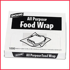 "[No Tax] Dixie All Purpose Food Wrap, 12"" x 12"" (1,000 Sheets), Microwaveable"