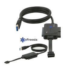 "Lot 2 x eFreesia USB 3.0 to SATA IDE 2.5"" 3.5"" 5.5"" Hard Drive Converter cable"