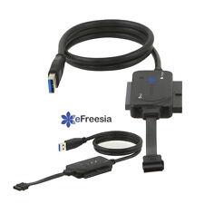 "Lot 2 x eFreesia USB 3.0 to SATA IDE 2.5"" 3.5"" 5.5"" Hard Drive Converter cable"