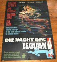 A1. Filmplakat,PLAKAT, DIE NACHT DES LEGUAN,RICHARD BURTON,EVA GARDNER