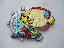 #3277 Tropical Fish,Wheel,Flower Embroidery Iron On Applique Patch