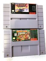 Donkey Kong Country & F-ZERO SNES Super Nintendo Game Lot Tested & AUTHENTIC!