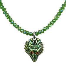KIRKS FOLLY PETITE THOR DRAGON BEADED NECKLACE SILVERTONE  NEW RELEASE  2017
