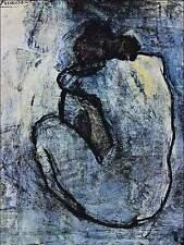PICASSO incorniciato stampa-BLU (foto di nudo dipinto REPLICA MONET DALI VAN GOGH)
