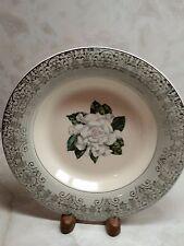 Elegance UG Grey by American Limoges China Co Gold Palladium 4 Soup Salad Bowls