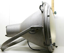 "Crouse Hinds 1000 Watt Lamp Spotlight 20"" Dia. Casing + Ballast + Cord Steampunk"