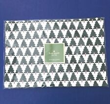 KATE SPADE New York Spruce Street Green CHRISTMAS TREE PLACEMATS Set of 4 New