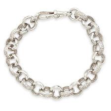 Sterling Silver Plain & Engraved BABY or CHILDS Belcher Bracelet ~ Handmade UK!